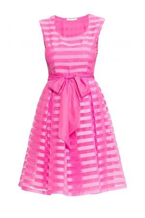 Платье из вискозы и шелка с поясом 163223 Anna Verdi. Цвет: розовый