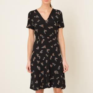 Платье MISS FLOWERS SESSUN. Цвет: рисунок черный