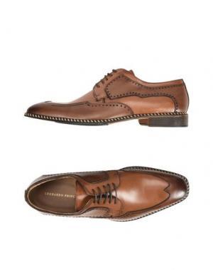 Обувь на шнурках LEONARDO PRINCIPI. Цвет: коричневый