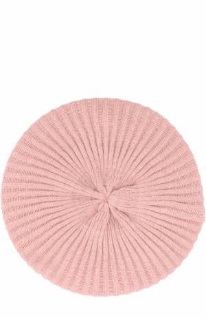Вязаный берет из кашемира с декором Inverni. Цвет: розовый