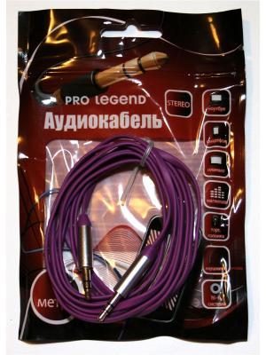 Кабель соединительный Pro Legend, 3.5 Jack (M)  - плоский кабель, фиолетовый, 1м. Legend. Цвет: фиолетовый