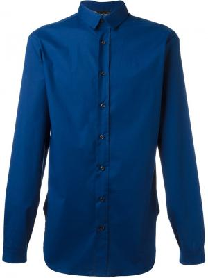 Рубашка на пуговицах Giuliano Fujiwara. Цвет: синий