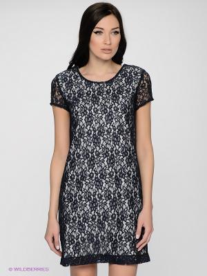 Платье LUIGI FERRO. Цвет: темно-синий