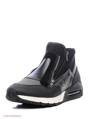 Ботинки ASH. Цвет: черный, зеленый, серый