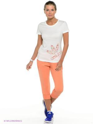 Бриджи Adidas. Цвет: персиковый