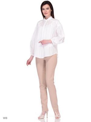Блузка DEVORE. Цвет: кремовый, белый