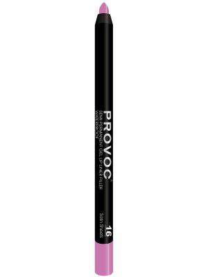 PV0016 Gel Lip Liner 16 Satin Sheets Гелевая подводка в карандаше для губ (цв. розовый, барби Provoc. Цвет: розовый