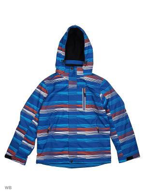 Куртка High Experience. Цвет: синий, оранжевый, белый