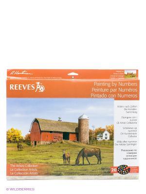 Набор для раскрашивания Ферма REEVES. Цвет: зеленый, коричневый, оранжевый