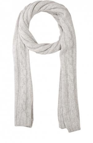 Шарф фактурной вязки из кашемира Kashja` Cashmere. Цвет: светло-серый