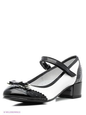 Туфли ELEGAMI. Цвет: белый, черный
