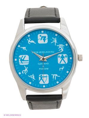 Часы Mitya Veselkov Спорт. Цвет: черный, синий