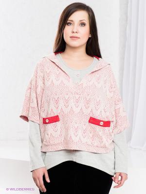 Комплект Gemko plus size. Цвет: серый, бледно-розовый