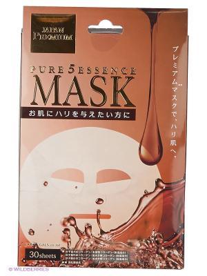 Japan Gals Premium Маска для лица c тремя видами коллагена 30 шт. Цвет: прозрачный