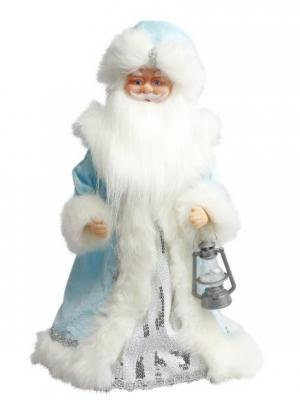 Дед Мороз в голубом 40 см, мех., муз., песня лесу родилась елочка Новогодняя сказка. Цвет: голубой, белый