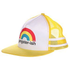 Бейсболка с сеткой  Gangster-ish Trucker Yellow Enjoi. Цвет: желтый,белый