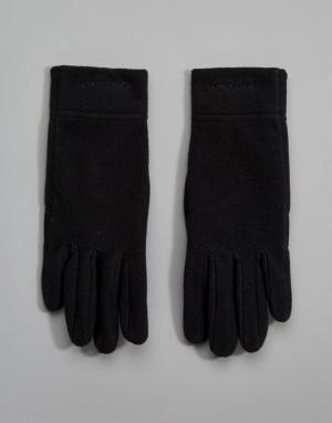 Patagonia Черные флисовые перчатки. Цвет: черный