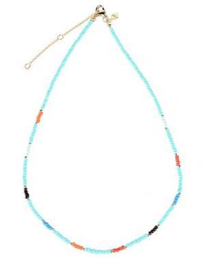 Ожерелье REBECCA MINKOFF. Цвет: бирюзовый