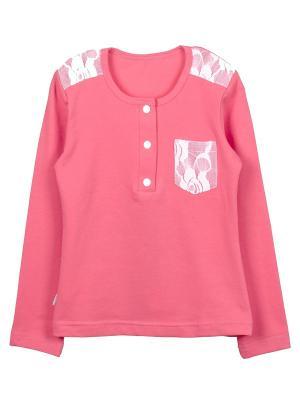 Лонгслив ИП Комарова Е.П.. Цвет: розовый, белый