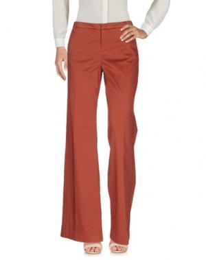 Повседневные брюки E_GO' SONIA DE NISCO. Цвет: кирпично-красный