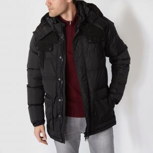 Куртка стеганая с капюшоном PETROL INDUSTRIES. Цвет: черный