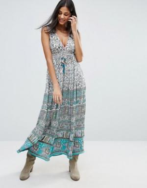 Raga Платье макси с принтом Far Lands. Цвет: мульти