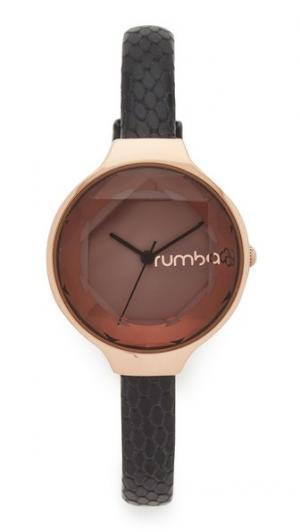 Часы Orchard Gem Exotic с черным кожаным ремешком RumbaTime