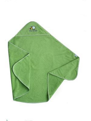 Полотенце с капюшоном Pecorella. Цвет: зеленый