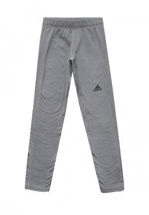Тайтсы adidas Performance. Цвет: серый