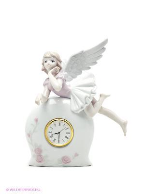 Фигурка-часы Ангел Pavone. Цвет: молочный
