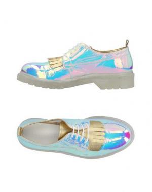 Обувь на шнурках LE QARANT. Цвет: фиолетовый