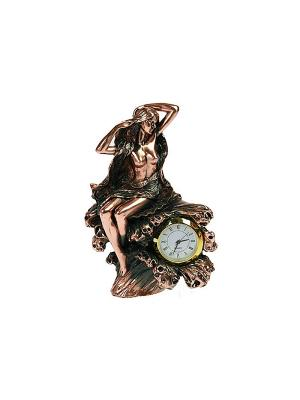 Часы настольные Девушка Русские подарки. Цвет: бронзовый