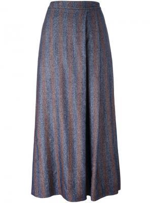 Длинная прямая юбка Cristiano Burani. Цвет: синий