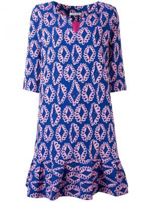 Платье с расклешенным подолом Tsumori Chisato. Цвет: синий