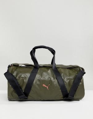 Puma Спортивная сумка Combat. Цвет: зеленый