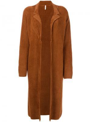 Длинное вельветовое пальто Boboutic. Цвет: коричневый