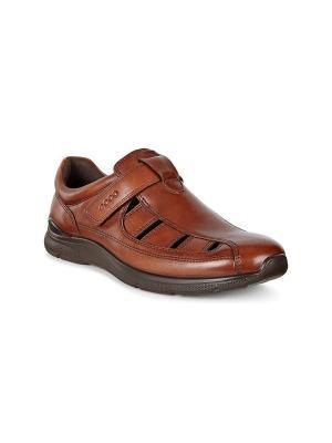 Ботинки ECCO. Цвет: коричневый, рыжий