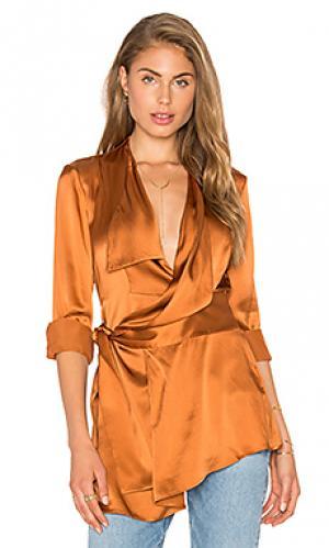 Шелковая рубашка bennett Acler. Цвет: тёмно-оранжевый