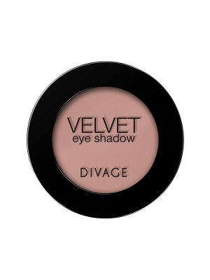Матовые одноцветные тени для век VELVET тон 7307 DIVAGE. Цвет: бежевый, розовый