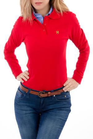 Поло POLO CLUB С.H.A.. Цвет: красный