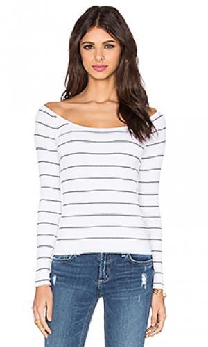 Топ со спущенными плечами phuket 360 Sweater. Цвет: белый