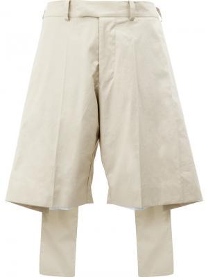 Широкие шорты Moohong. Цвет: телесный
