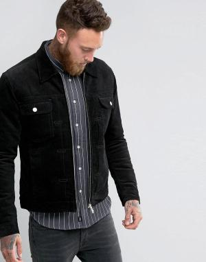 Edwin Вельветовая куртка. Цвет: черный