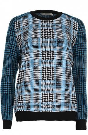 Вязаный пуловер Mary Katrantzou. Цвет: синий
