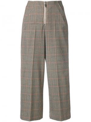 Укороченные клетчатые брюки Dondup. Цвет: коричневый