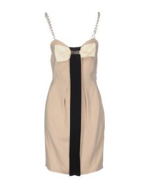 Короткое платье CRISTINAEFFE COLLECTION. Цвет: бежевый