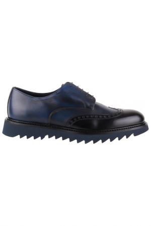 Туфли Gianfranco Butteri. Цвет: темно-синий