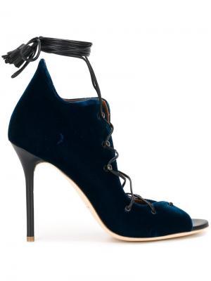 Босоножки со шнуровкой Malone Souliers. Цвет: синий