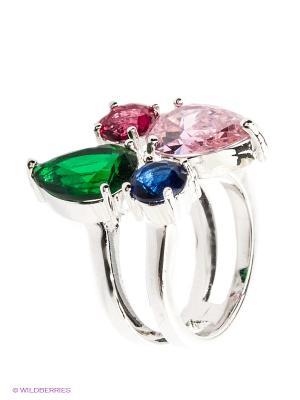 Кольцо Lovely Jewelry. Цвет: серебристый, розовый, синий, зеленый