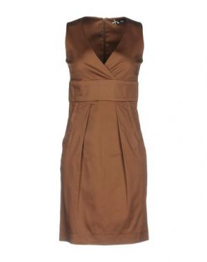 Короткое платье SINÉQUANONE. Цвет: коричневый